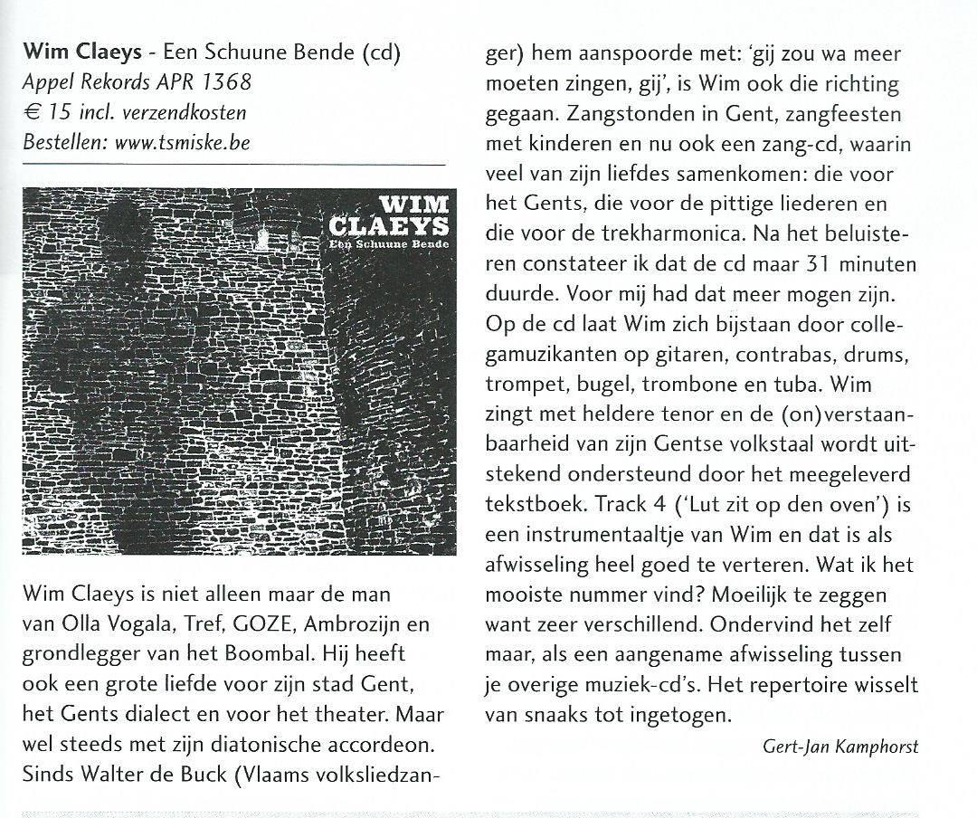 Recensie Diatonisch Nieuwsblad